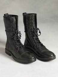 tall motorcycle boots john varvatos stanley tall lace boot in black for men lyst