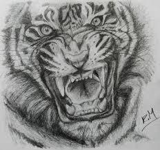 tigers roar by doodle103 on deviantart