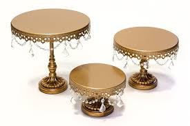 gold wedding cake stand opulent treasures chandelier cake plate stands