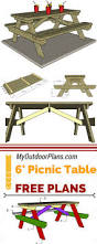 Plans For Round Wooden Picnic Table by Best 25 Picnic Tables Ideas On Pinterest Diy Picnic Table