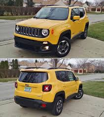 light yellow jeep 2016 fiat 500x u0026 2016 jeep renegade 4x4 red tomato yellow