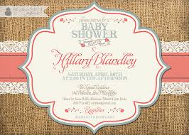 template shabby chic baby shower invitations