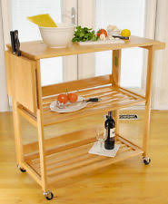 Folding Kitchen Island Cart Folding Kitchen Cart Ebay