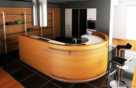 curved island kitchen designs a contemporary kitchen with a curved island kitchens of the day