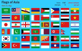 Interactive Map Of Asia by Interactive Map Of Asia Flags Of Asia World Geography Games