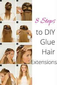 diy hair extensions 8 steps to diy glue hair extensions the wardrobe stylist