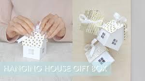 hanging house gift box instructions youtube