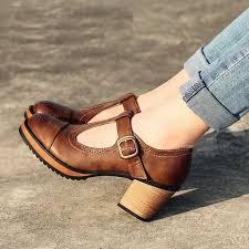 style vintage pas cher pas cher mode britannique style vintage femmes chaussures à talons