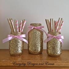 mason jar pink gold baby shower ideas baby shower decorations