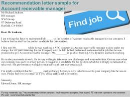 Sample Resume For Accounts Receivable by Accounting Manager 2 Recommendation Letter Sample For Account