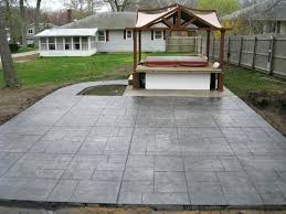 Patio Concrete Designs by Concrete Patio Furniture Smokey Beige Patios Cornerstone Designs