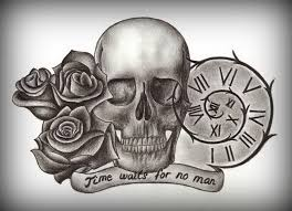 skull and roses drawing at getdrawings com free for personal use