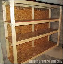 Free Standing Garage Shelves Plans by Handy Storage Boltless 5 Shelf Unit Garage Storage Free