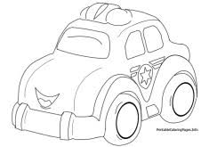 classic police car coloring printable coloring pages