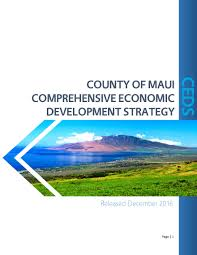 Economic Development County Of Maui Comprehensive Economic Development Strategy Ceds