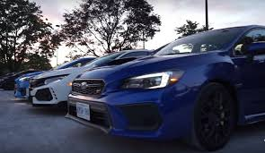 subaru wrx hatch 2018 ford focus rs meets 2018 honda civic type r and 2018 subaru wrx
