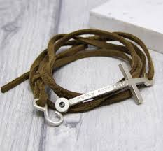 leather bracelet with cross images Mens personalised cross leather bracelet by soremi jewellery jpg