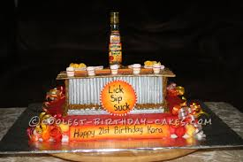 birthday cake drink cool tequila bar cake for a 21st birthday