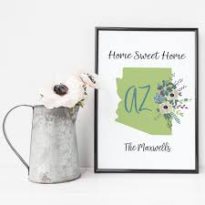 home sweet home state personalized print ninety6nine chic