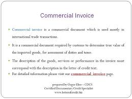 letter of credit documents commercial invoice presentation 3