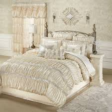 radiance shirred faux silk comforter bedding