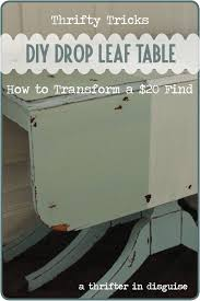diy drop leaf table a thrifter in disguise milk paint drop leaf table