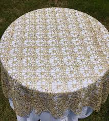silver lace table overlay gold lace tablecloth silver sequence chain lace table overlay lace