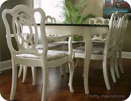 dining tables painted white on bottom with black top sloan chalk