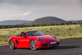 Porsche Boxster Red - 2017 porsche 718 boxster review gtspirit