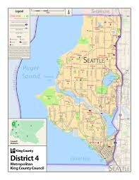 Map Of La County Map Of District 4 King County