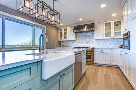 painting my kitchen cabinets blue 2021 cost to paint kitchen cabinets professional repaint