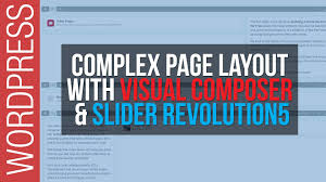 how to build complex web pages with wordpress visual composer