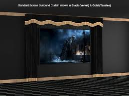 Velvet Home Theater Curtains Soundright Home Theater Surround Curtains 4seating