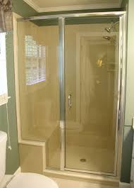 Shower Door City Light Glass Shower Doors With Silver Frame Installed In Kansas
