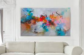 original abstract acrylic painting mixed media art canvas