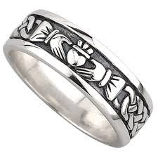 claddagh wedding ring claddagh ring men s sterling silver celtic claddagh wedding band
