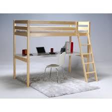 lit superpos avec bureau int gr conforama ashton lit mezzanine enfant contemporain en bois epicea massif verni