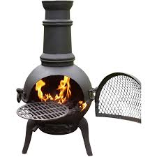 Outdoor Barbecue Exterior Cast Iron Chiminea For Exciting Outdoor Barbecue Design