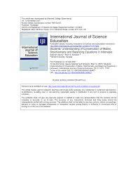 students u0027 understanding of conservation of matter stoichiometry