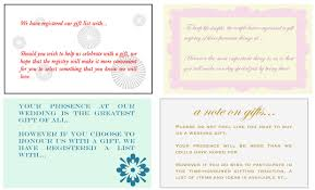 wedding gift list wording wedding gift registry wording imbusy for