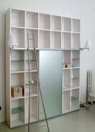 shelving with sliding door glass ex libris ligne roset luxury