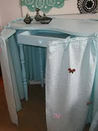 Blue Vanity Table Kidney Shaped Vanity Table And Chair Painted In Aqua Blue U2013 Stone