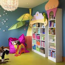 colorful playroom kids eclectic with storage baskets contemporary