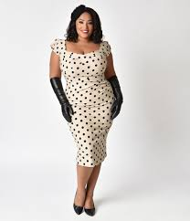 stop staring stop staring plus size 1940s style black polka dot billion