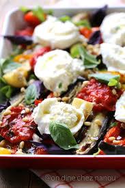 recette cuisine d été légumes d été au four à la burrata cuisine salée