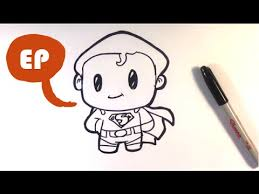 draw cute superman easy pictures draw