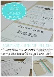 diy wedding invitations templates free wedding invitation template with inserts