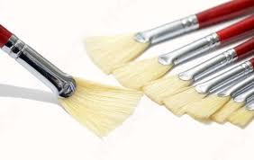 fan brush oil painting 6 pc set monet fan brush hog bristle hair oil painting set gouache