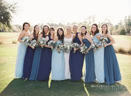 bridesmaid dresses in blue mismatched blue bridesmaid dresses1 wedding ideas