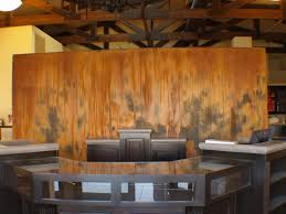 rust wall for twist studio spa in paso robles ca modern masters
